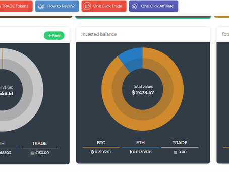 Earnings from Trading Tool BOT over last 7 days/My weekly report/Smart Trade GO bitcoin trading bot