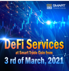 DeFi trading tools bot at Smart Trade Coin from 3 rd of March 2021