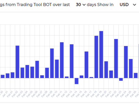 Summary of profits from Smart Trade Go for February 2021. Cryptocurrency trading tools bot
