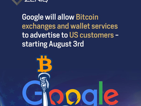 Google will allow Bitcoin exchanges and wallet services to advertise to US customers