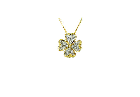 Clover Diamond Pendant SM