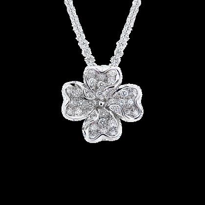 Clover Diamond Pendant BG