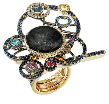 Onyx Galaxy Ring - Caratell Fine Jewellery Collection