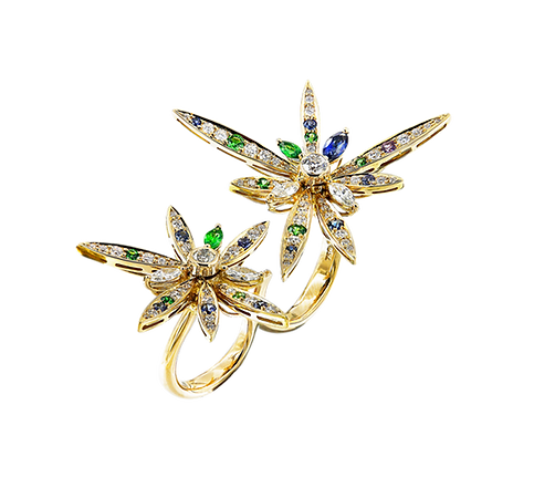 Star Burst Duo Ring - Caratell Jewellery Collection
