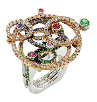 Colour Sapphire Galaxy Ring - Caratell Fine Jewellery Collection