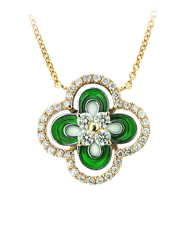 In Europe with Love Enamel Necklace - Caratell Fine Jewellery Collection