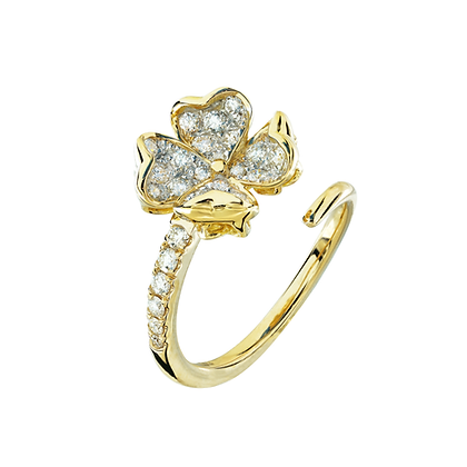 Clover Infinity Diamond Ring