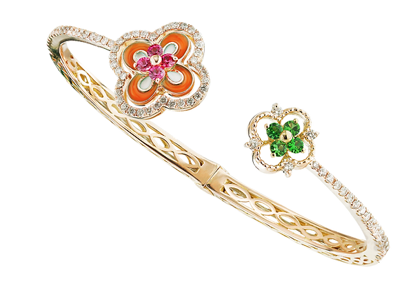 In Europe with Love Enamel Bangle - Caratell Fine Jewellery Collection