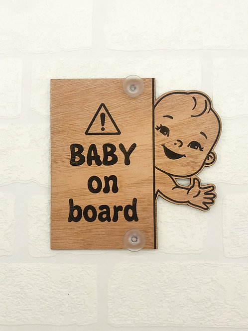 Baby On Board Vertical Sign - Boy