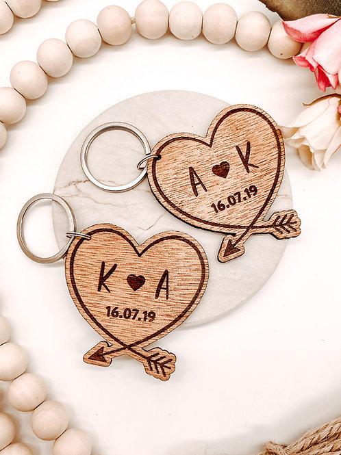 Heart & Arrow Keychain