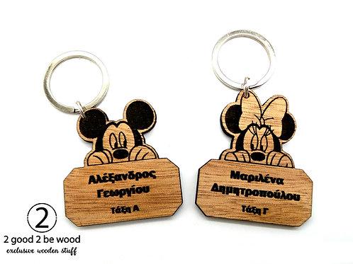 Mickey or Minnie Custom School Tag