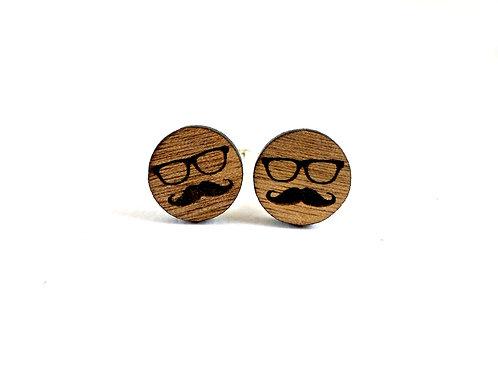 Mustache & Glasses  Cufflinks