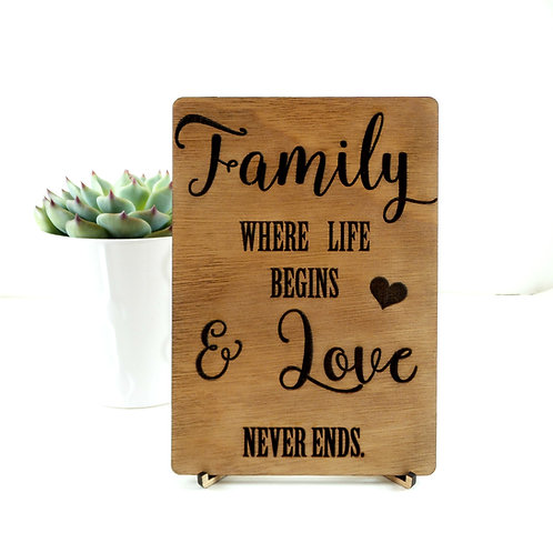 Family - Card + Stand