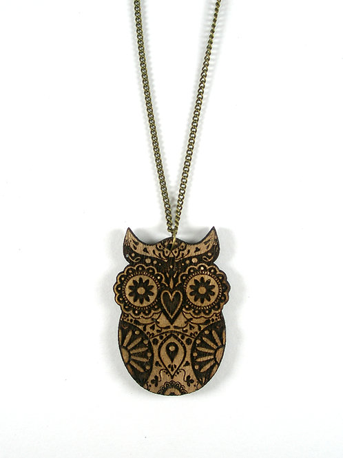 Sugar Owl Necklace