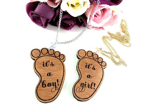 It's a Boy/Girl Pregnancy Necklace