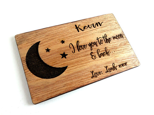 Wallet card - To the moon & back