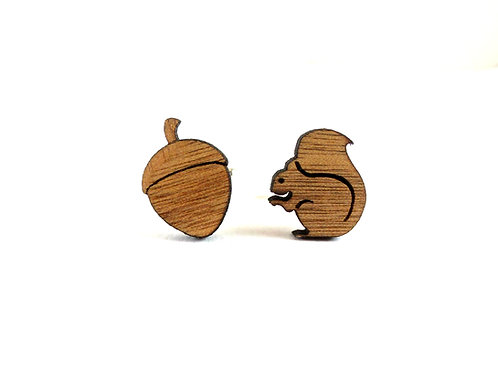 Squirrel & Nut  Cufflinks