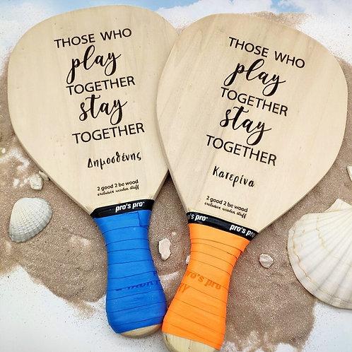 Beach Tennis Rackets (set of 2)