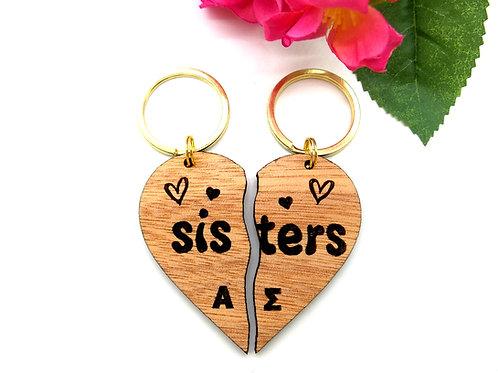 Split Heart Keychains (set of 2)