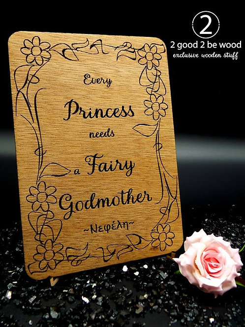 Every Princess needs a Fairy Godmother Flourish Card