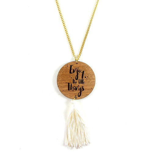 Enjoy the little things - Fringe Necklace