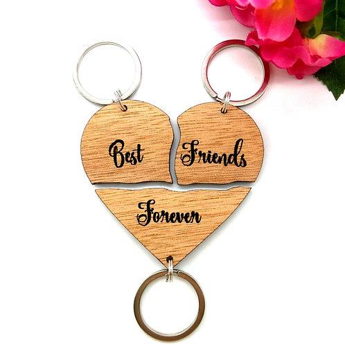 Split Heart Keychains (set of 3)