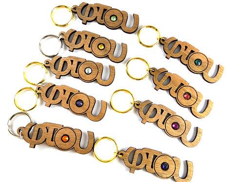 Φτού - Swarovski keychain