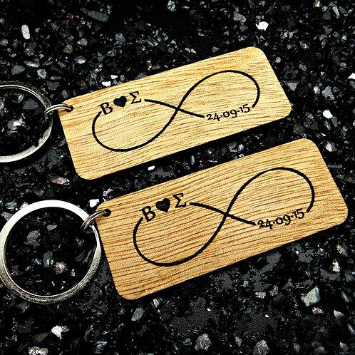 Personalized Infinity Keychain