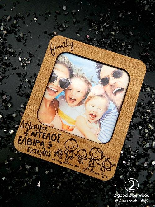 Magnetic Polaroid Frame - Family