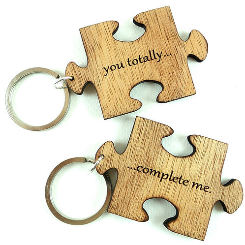 Set of 2 Puzzle Keychains