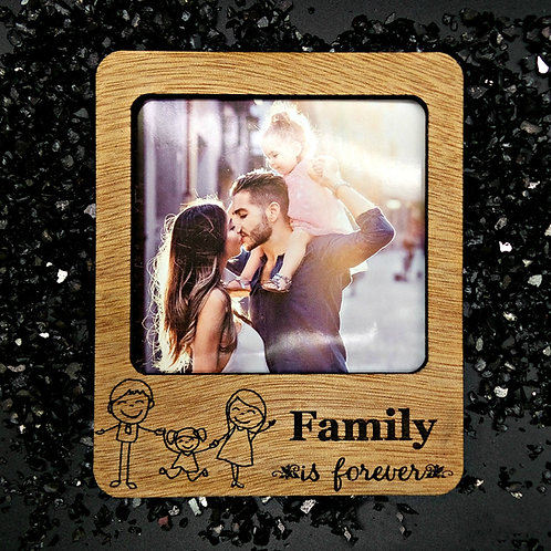 Magnetic Polaroid Frame - Family is Forever