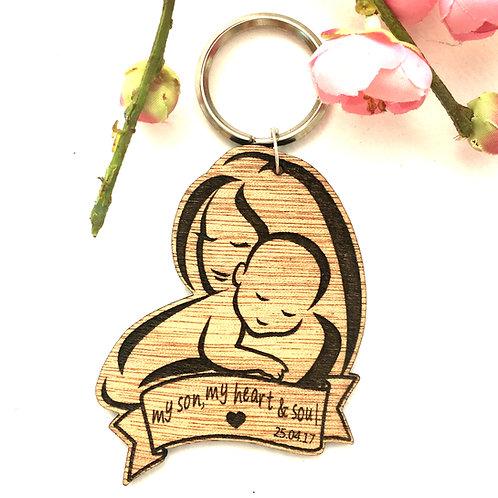 Mother's Hug ~ custom keychain