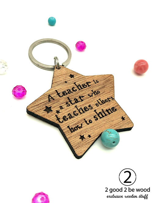 Star Keychain - Teacher