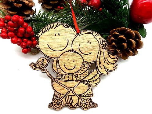 Xmas Ornament - Family