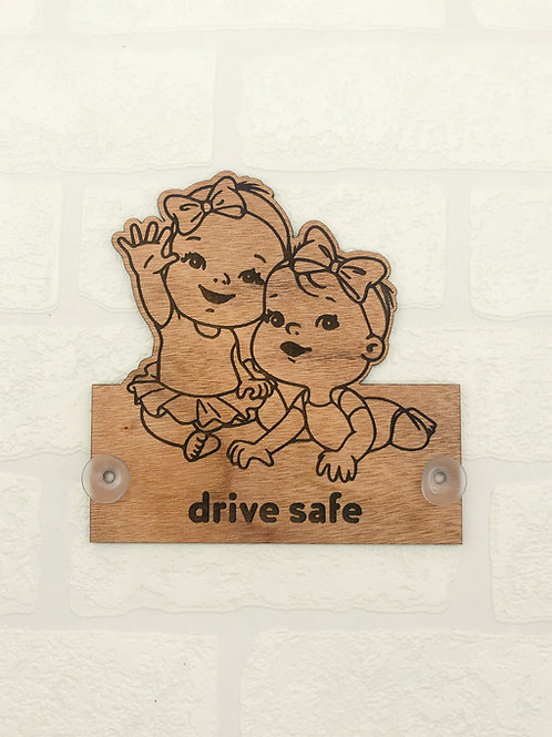 Baby On Board Sign - Twin Girls