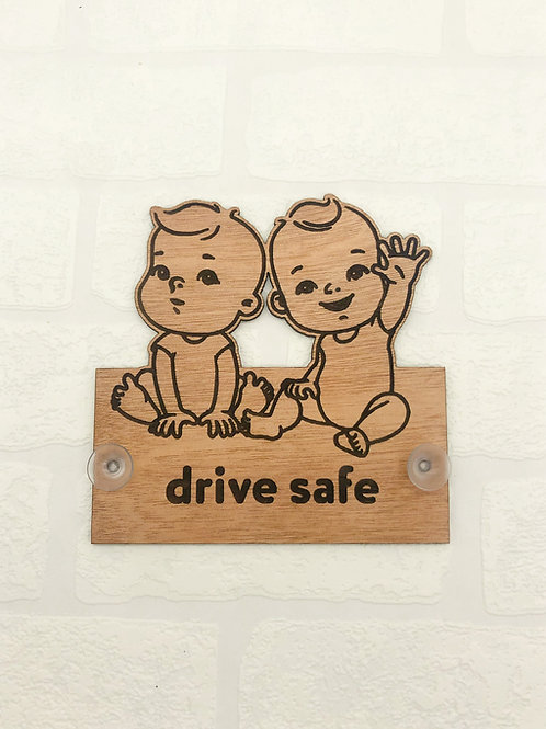 Baby On Board Sign - Twin Boys