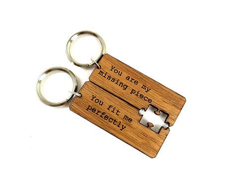 Double Cut Keychains - Puzzle