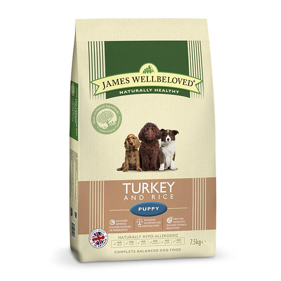 James Wellbeloved Puppy Food Turkey and Rice
