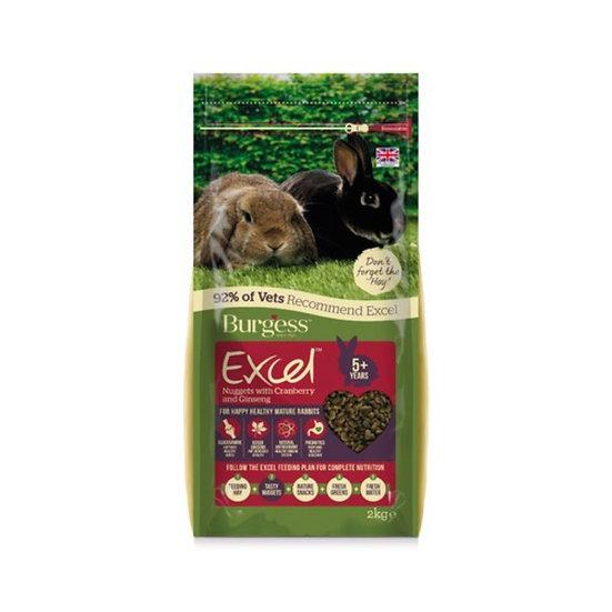 Burgess Excel Rabbit Mature Nuggets 2kg