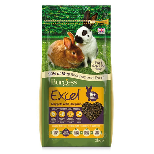 Burgess Excel Rabbit Nuggets Oregano 2kg