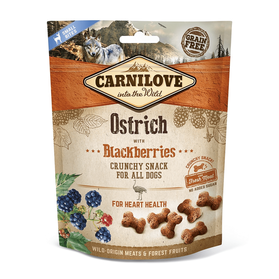 Carnilove Ostrich with Blackberries Crunchy Dog Treats
