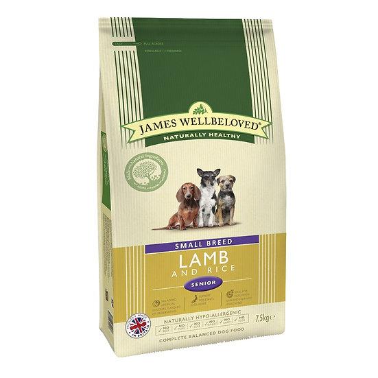 James Wellbeloved Dog Food Senior Lamb 7.5kg