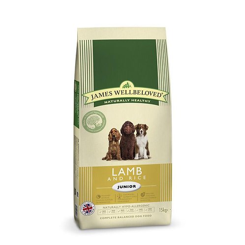 James Wellbeloved Junior Dog Food Lamb and Rice