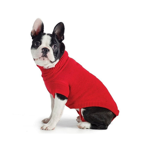 Ancol Cable Muddy Paws Knit Sweater Red