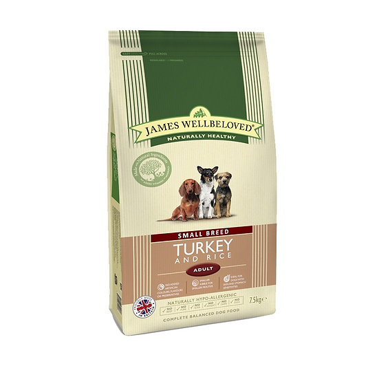 James Wellbeloved Dog Food Senior Small Breed Turkey and Rice 1.5kg