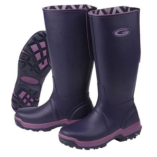 Grubs Rainline Boots Aubergine