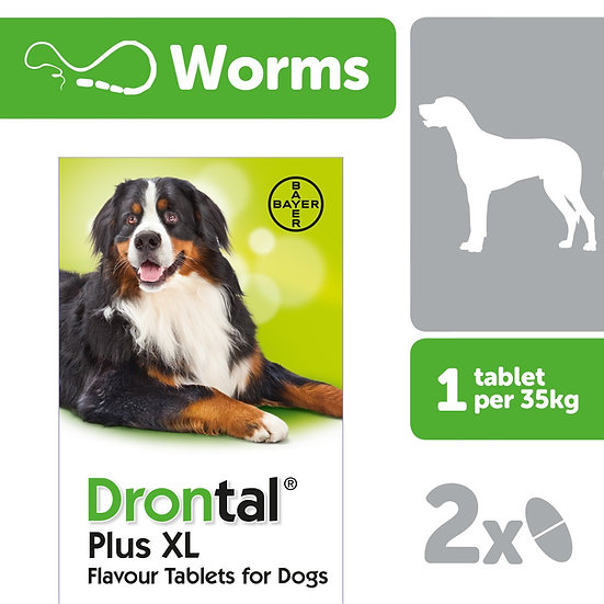Drontal Dog Tasty Bone XL Tablets