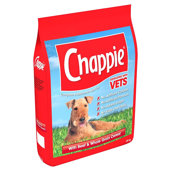 Chappie Dry with Beef and Cereal 15kg