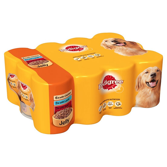 Pedigree Mixed in Jelly Tins 12 x 400g