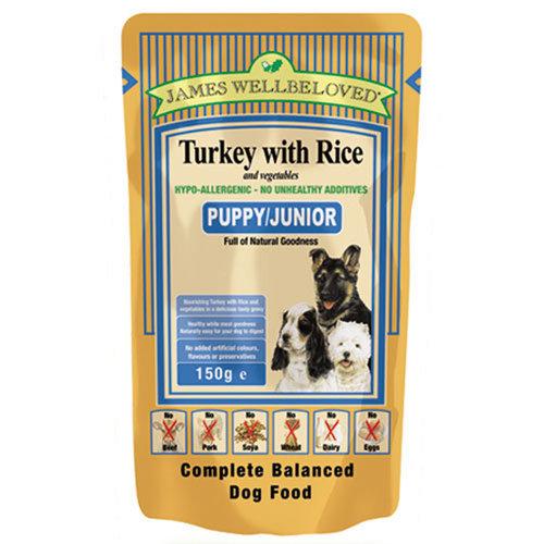 James Wellbeloved Puppy Food Turkey Pouches 10 x 150g